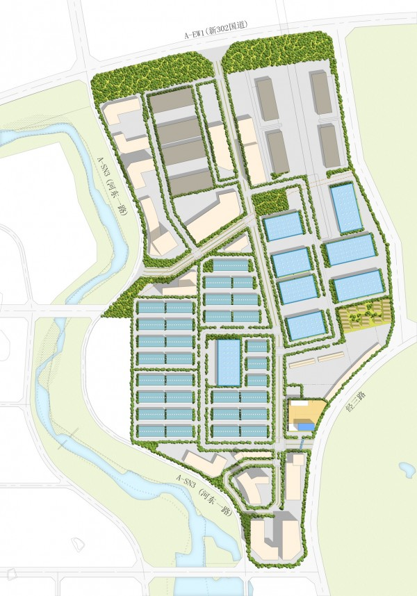 P:P12034KJFLP - FS for Keppel Jilin Food Logistics Pk, China3 DRAWINGS3 DESIGN STUDIES12.06.07 Site Plan Option 4a Model
