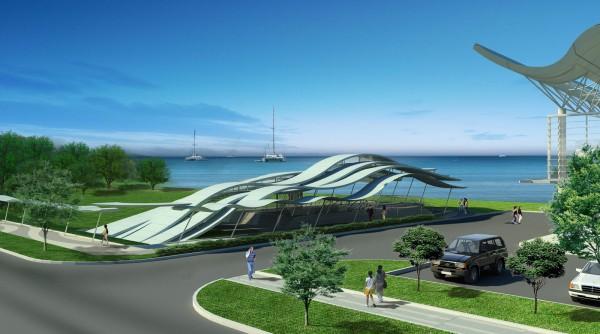 Marina Pier Entrance seaview